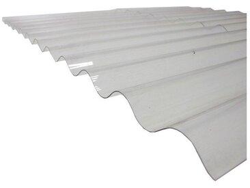 Plaque polycarbonate ondulée translucide (PO 76/18 - petite onde) - Coloris - Translucide, Largeur totale de la plaque - 90cm, Longueur totale de la plaque - 3m