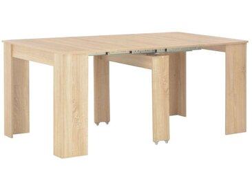 Hommoo Table à dîner extensible Chêne Sonoma 175 x 90 x 75 cm