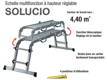 CENTAURE Echelle multi-positions télescopique SOLUCIO