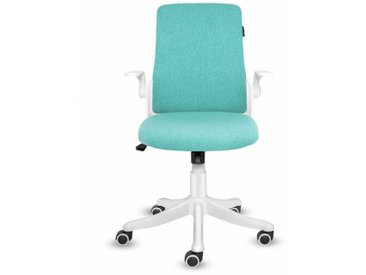 Chaise de bureau Ergonomique Chaise pivotante avec accoudoirs pliants Vert - Green