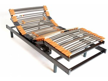 Sommier de relaxation électrique en bois à lattes Civelle 90 x 190 cm