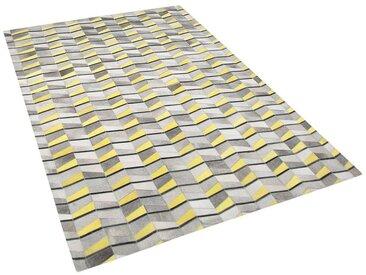 Tapis en cuir moderne au motif géométrique