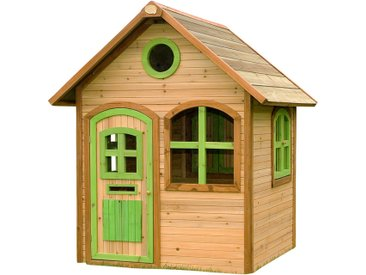 Julia Playhouse: Maisonnette pour enfants, fenêtres intégrées et bois très résistant
