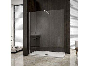 paroi de douche 140cm en 8mm verre anticalcaire hauteur:200cm douche italienne