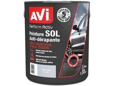 Peinture Sol Anti-dérapante, Perform Activ, Satin, Gris Acier, 2,5L, Avi