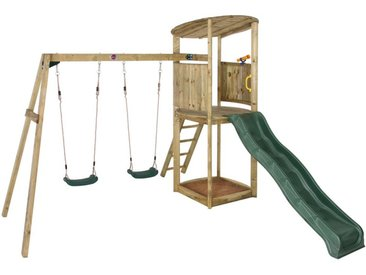Plateforme de jeux avec agrès - toboggan et bac à sable