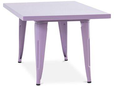 Table pour enfant de style Tolix - 60 cm - Métal Violet