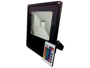 Projecteur LED RGB 10W avec télécommande   Noir - RGB - multicolore - RadioFréquence