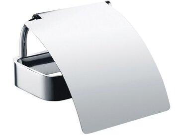 Dérouleur papier toilette SOLO en laiton chromé 12,8 cm - Avec couvercle