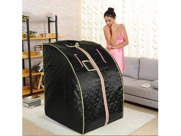 Sauna Box Infrarouge Cabine à Chaleur 1000W Portable Sauna Thérapeutique Pliable Noir - Noir