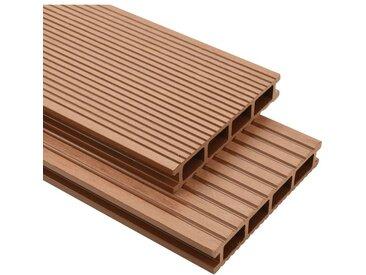 Panneaux de terrasse WPC avec accessoires 25 m² 4 m Marron