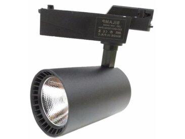 Spot LED sur Rail 20W 80° COB Monophasé NOIR - Blanc Neutre 4000K - 5500K