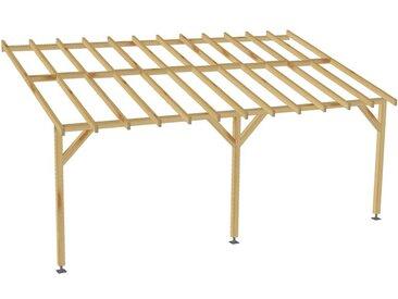 Jardinatoire - Carport adossé |6x3| - Pente 30% - Bois massif - Durable |+ Vis & pieds de poteaux réglables