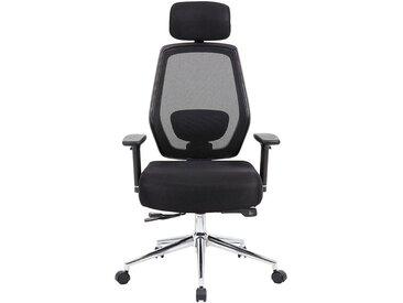 Chaise pivotante de bureau Ergo-Task - ergonomique, avec appuie-tête, noir