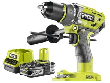 Pack RYOBI Perceuse-visseuse à percussion Brushless OnePlus R18PD7-0 - 1 Batterie 2.5Ah - 1 Chargeur rapide RC18120-125