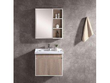 Ensemble meuble de salle de bain design NOVA chêne 80 cm