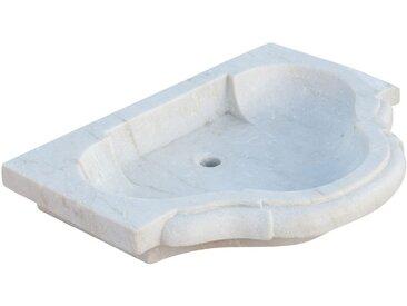 Lavabo en marbre blanc L77xPR55xH13 cm