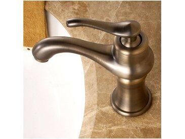 Robinet lavabo mitigeur classique sous forme de théière bronze