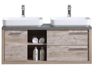 Meuble de salle de bain Vermont 120cm lavabo nature wood – Armoire de rangement Meuble lavabo