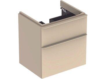 Geberit Meuble sous-lavabo Geberit Smyle Square, 500.352., 584x617x470mm, avec 2 tiroirs, Coloris: Laque brillante gris sable - 500.352.JL.1
