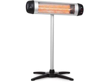 Rising Sun radiateur 2500 W IP34 réglable en hauteur argent - Blumfeldt