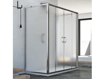 Cabine douche à trois côtés 80x130x80 CM H185 granité C modèle Replay Trio avec 2 portillons