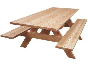 Table Banc de Pique-Nique 6 pers. PMR Douglas Naturel 2m