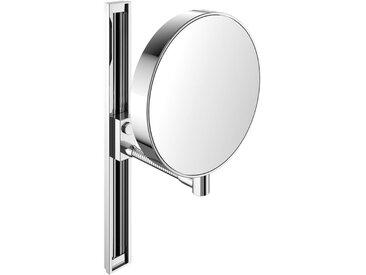 Miroir cosmétique et de rasage Emco, réfléchissant des deux côtés, grossissement 3x et 7x, rond, bras flexible, glissière, non éclairé - 109500115