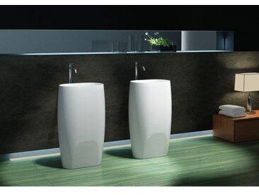Lavabo colonne totem PB2034 - 53 x 38 x 90cm - blanc - Solid Stone