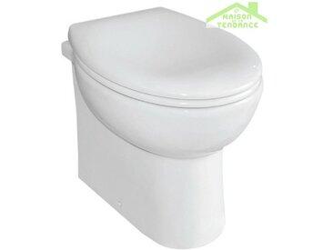 Pack WC à poser PAROS en porcelaine avec abattant à frein de chute