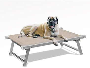 Lit pour chien aluminium niche animaux transat DOGGY | Beige