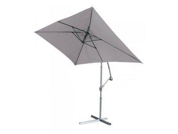 Parasol deporte Gris Perle en aluminium - 3 x 2 m -PEGANE-