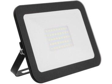 Projecteur LED Extra-Plat Crystal 30W Noir Blanc Neutre 4000k-4500K