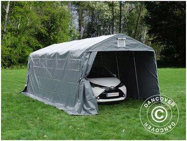 Tente Abri Voiture Garage PRO 3,3x6x2,4m PVC, Gris