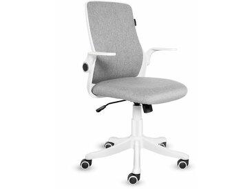 Chaise de bureau Ergonomique Chaise pivotante avec accoudoirs pliants Gris - Grey