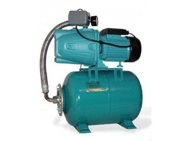 Pompe d'arrosage JET100A + manomètre, interrupteur + ballon 100L, POMPE DE JARDIN pour puits 1100 W, 3600l/h, 230V, JET100A100L