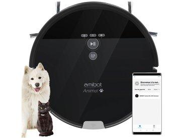 Robot aspirateur et laveur AMIBOT Animal XL H2O Connect spécial poils d'animaux de compagnie