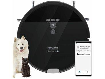 Robot aspirateur et laveur AMIBOT Animal XL H2O Connect spécial poils d'animaux de compagnie - Black