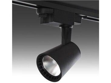 Spot LED Sur Rail Monophasé Noir 15W 1200Lm 30.000H Jasmine | Blanc Neutre (RL-FC-B-15-CW)