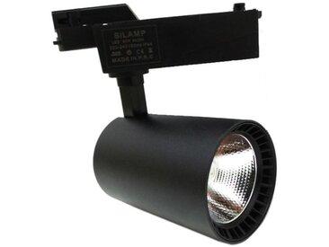 Spot LED sur Rail 30W 80° SMD Monophasé NOIR - Blanc Chaud 2300K - 3500K
