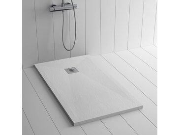 Receveur de douche Résine PLES Blanc - 110x90 cm