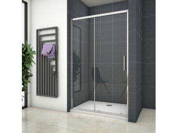 Porte de douche coulissante 140x190cm en niche porte de douche