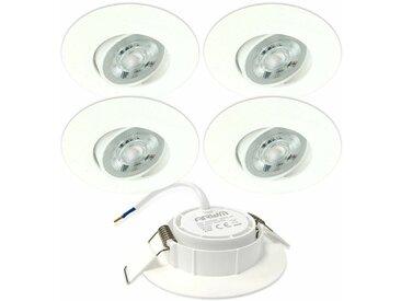Arum Lighting - 5 Spots Encastrables LED ASTURIE Orientable 5W Eq. 40W | Température de Couleur: Blanc chaud 3000K