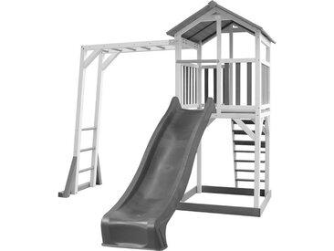 Beach Tower et structure de jeu blanc/gris - avec toboggan gris