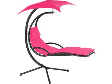 Transat suspendu KASIA - fauteuil relax, fauteuil suspendu, chaise suspendue - rose vif