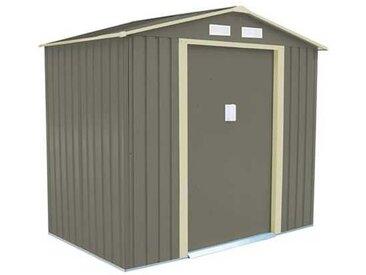 Abri de jardin métal 2,12 m2. + kit d'ancrage inclus