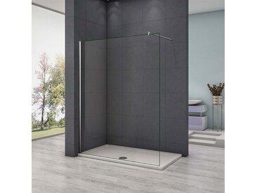 paroi de douche 140x200cm en 8mm verre anticalcaire paroi latérale douche italienne