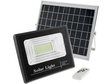 BeMatik - Ampoule projecteur LED extérieure IP65 de 40W avec batterie rechargeable de 10000 mAh et panneau solaire