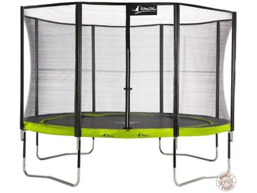 Kangui - Trampoline de jardin rond 430 cm + filet de sécurité PUNCHI Vert 430 - Vert