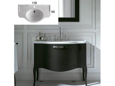 Ceramica Globo - Lavabo suspendu PAESTUM 110x60 cm, en céramique blanc brillant. (code PA022.BI)